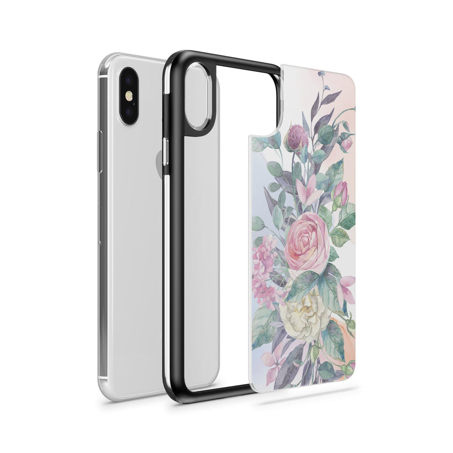 French Roses - Slate Case - Milkyway Cases -  iPhone - Samsung - Clear Cut Silicone Phone Case Cover
