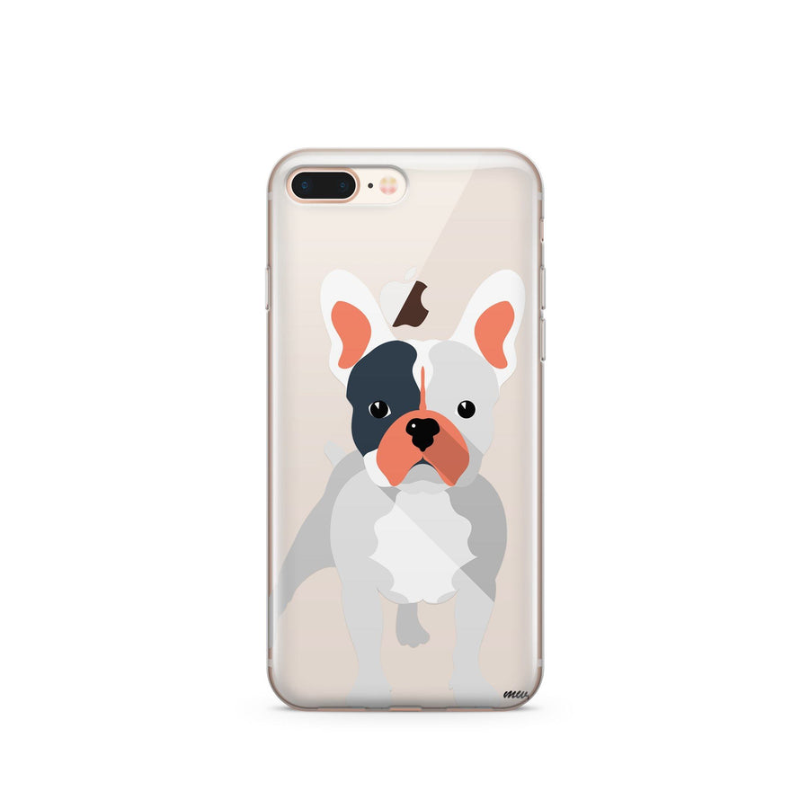 French Bulldog - Clear TPU Case Cover - Milkyway Cases -  iPhone - Samsung - Clear Cut Silicone Phone Case Cover