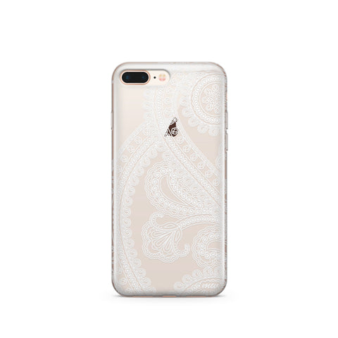 Henna Full Paisley - Clear TPU Case Cover