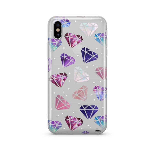 Galactic Diamonds (@okitssteph x @milkywaycases) - Clear Case Cover