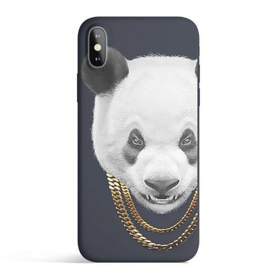 Gangsta Panda - Colored Candy Cases Matte TPU iPhone Cover