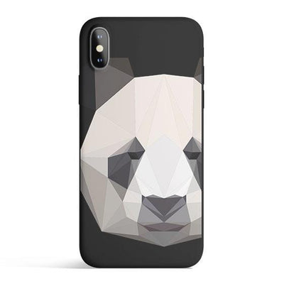 Geometric Panda - Colored Candy Cases Matte TPU iPhone Cover