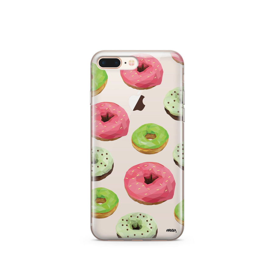 Geometric Donut Overload - Clear TPU Case Cover - Milkyway Cases -  iPhone - Samsung - Clear Cut Silicone Phone Case Cover
