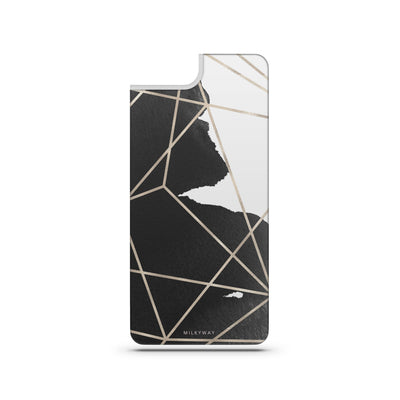 Geometric Stroke - Slate Backplate - Milkyway Cases -  iPhone - Samsung - Clear Cut Silicone Phone Case Cover