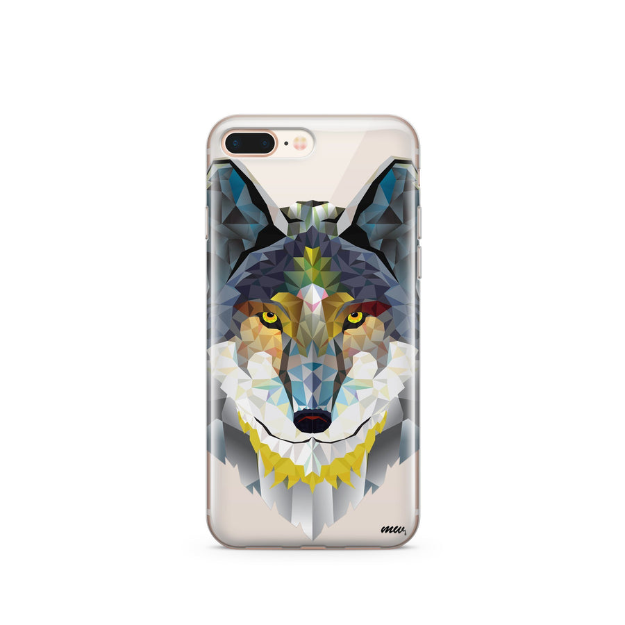 Geometric Wolf - Clear TPU Case Cover - Milkyway Cases -  iPhone - Samsung - Clear Cut Silicone Phone Case Cover