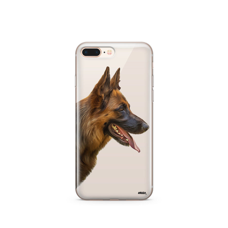 German Shepherd - Clear TPU Case Cover - Milkyway Cases -  iPhone - Samsung - Clear Cut Silicone Phone Case Cover