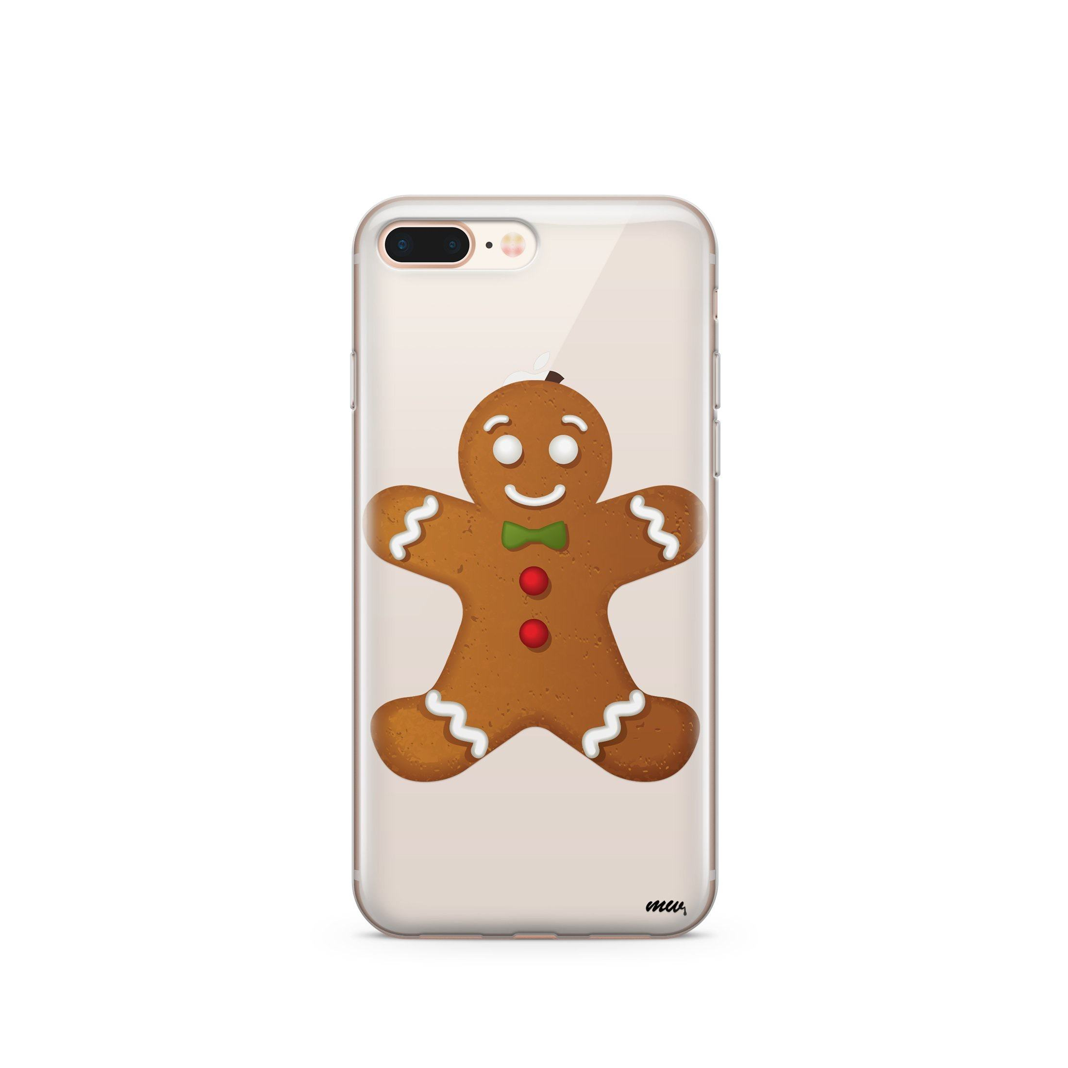Ginger Bread Man - Clear TPU Case Cover