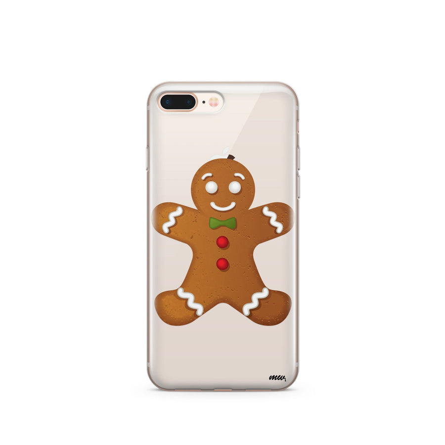 Ginger Bread Man - Clear TPU Case Cover - Milkyway Cases -  iPhone - Samsung - Clear Cut Silicone Phone Case Cover