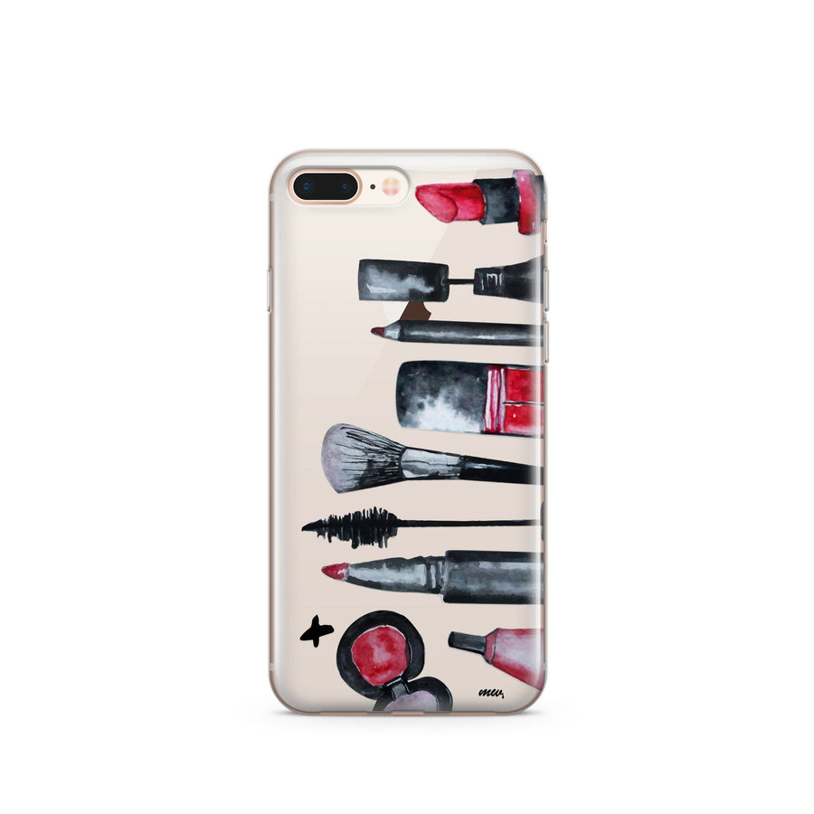 Glam iPhone & Samsung Clear Phone Case Cover