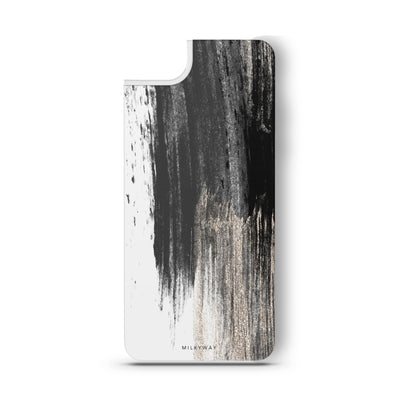 Gold Swipe - Slate Backplate - Milkyway Cases -  iPhone - Samsung - Clear Cut Silicone Phone Case Cover