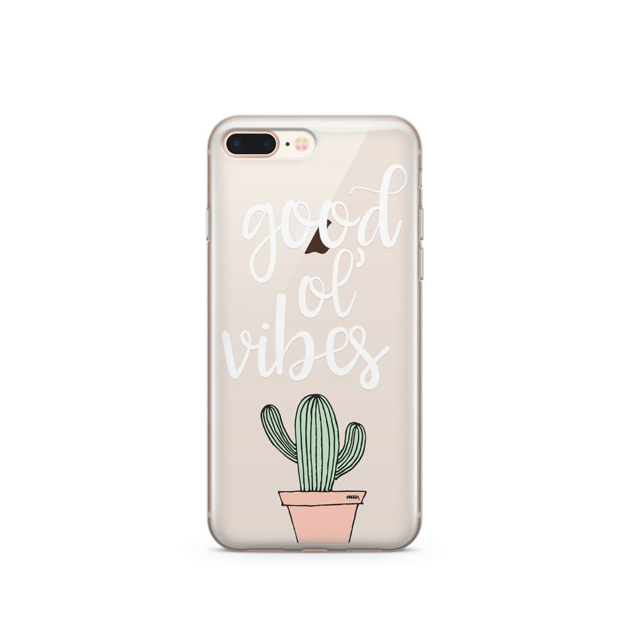 Good ol' Vibes - Clear Case Cover - Milkyway Cases -  iPhone - Samsung - Clear Cut Silicone Phone Case Cover