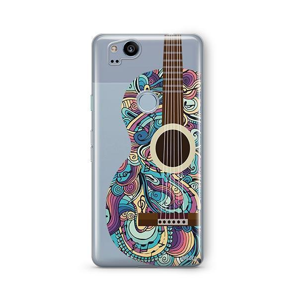 Henna Abstract Guitar Google Pixel 2 Case Clear