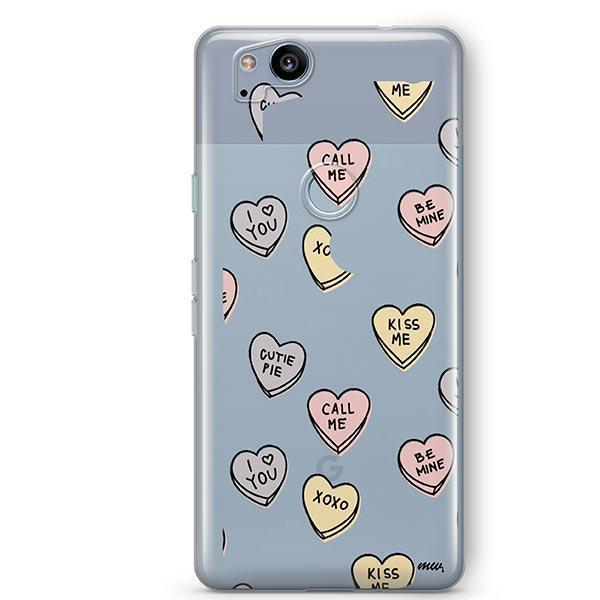 Candy Hearts Google Pixel 2 Case Clear