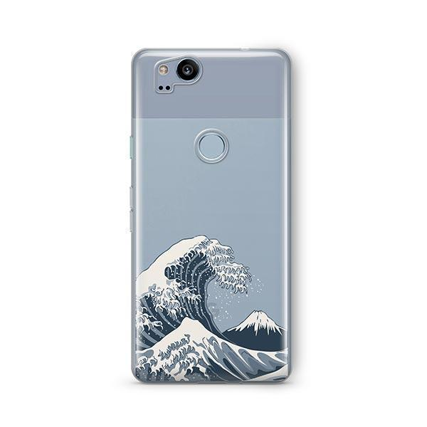 Japanese Wave Google Pixel 2 Case Clear