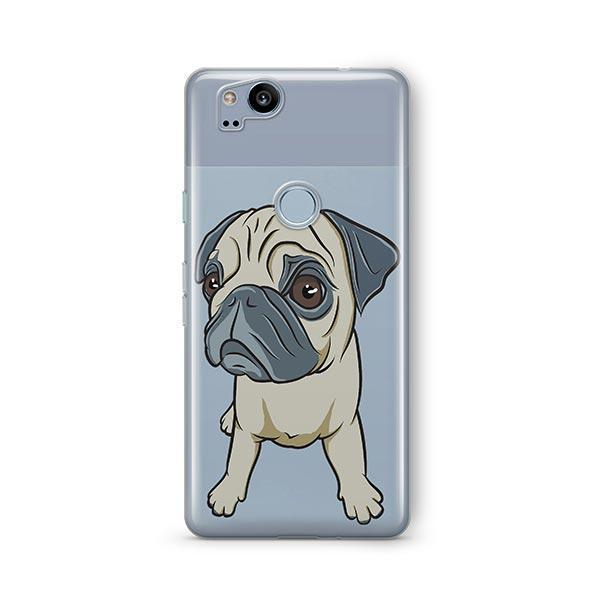 Full Pug - Google Pixel 2 Clear Case