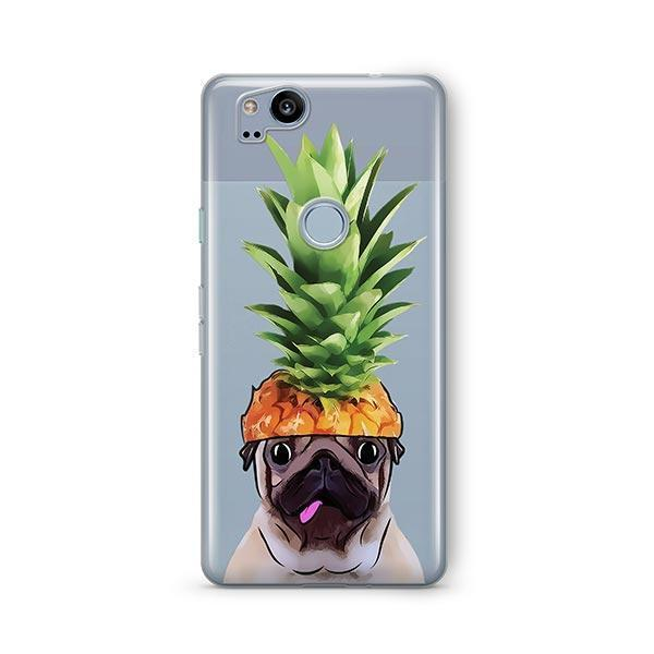 Pineapple Pug - Google Pixel 2 Clear Case