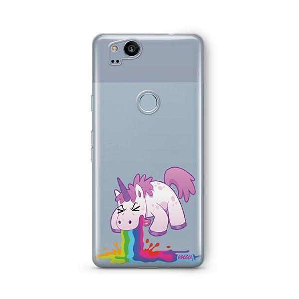 Puking Unicorn Google Pixel 2 Case Clear