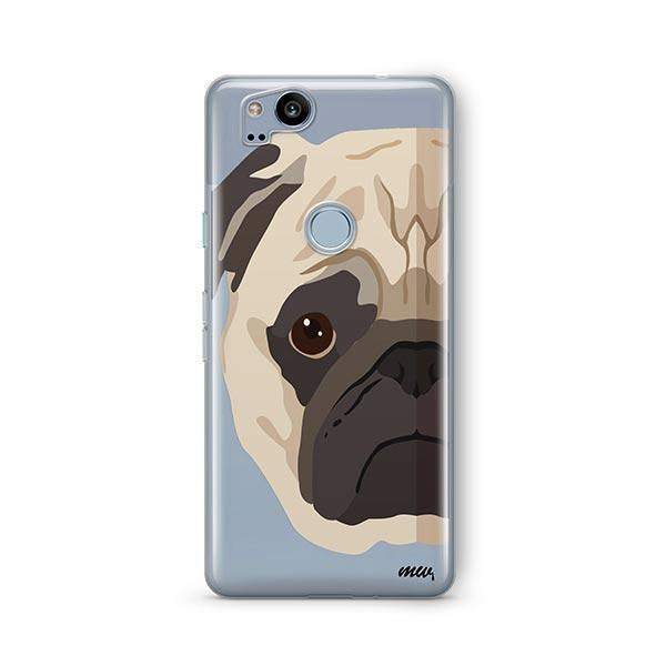 The Pug Case - Google Pixel 2 Clear Case