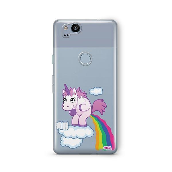 Pooping Unicorn Google Pixel 2 Case Clear