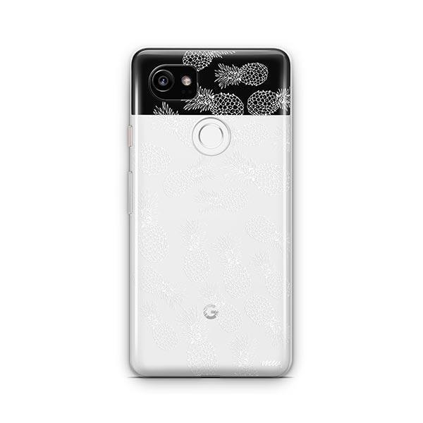 Henna White Pineapple Google Pixel 2 XL Case Clear