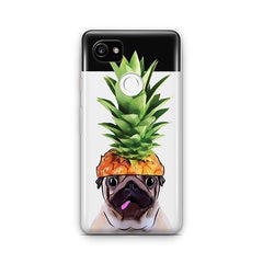 Pineapple Pug - Google Pixel 2 XL Clear Case
