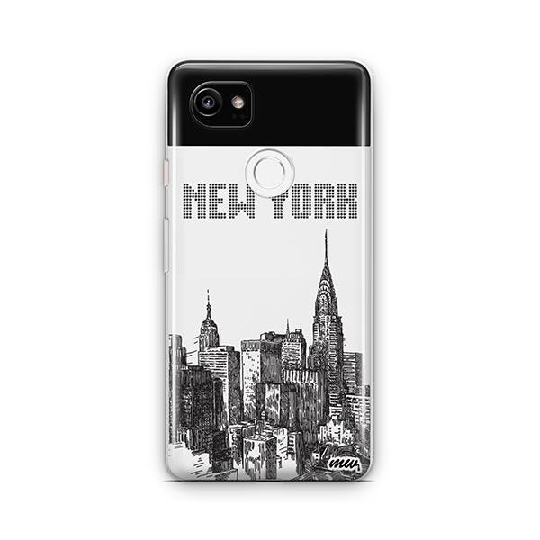 The Big Apple Google Pixel 2 XL Case Clear