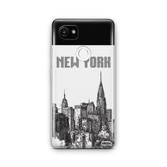 The Big Apple Google Pixel 2XL Case Clear