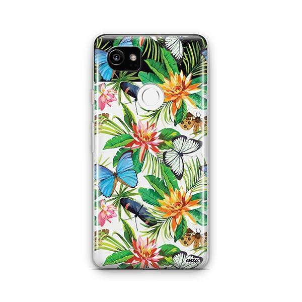 Tropical Butterfly Google Pixel 2 XL Case Clear