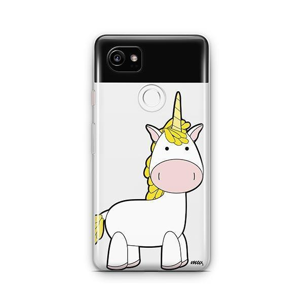 huge selection of 9586b bb8a8 Cute Unicorn Google Pixel 2 XL Case Clear