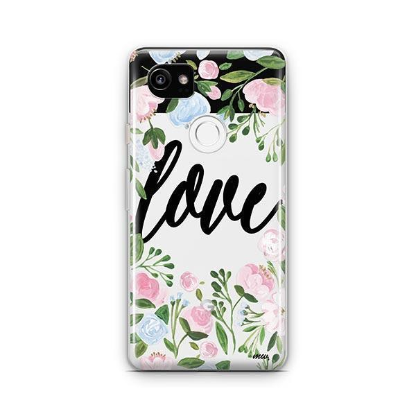 Floral Love Google Pixel 2 XL Case Clear