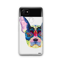 Geometric Frenchie - Google Pixel 2 XL Clear Case