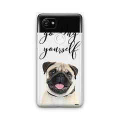 Go Pug Yourself - Google Pixel 2 XL Clear Case