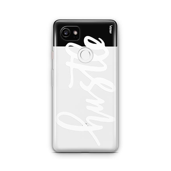 Hustle in White Google Pixel 2 XL Case Clear