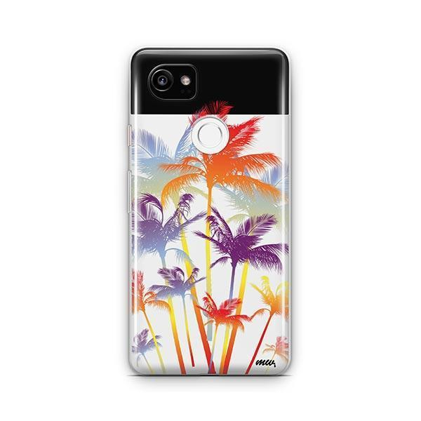 Hipster Palm Tree Google Pixel 2 XL Case Clear