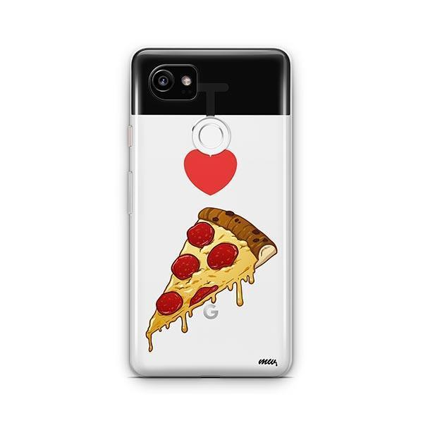 I Love Pizza Google Pixel 2 XL Case Clear