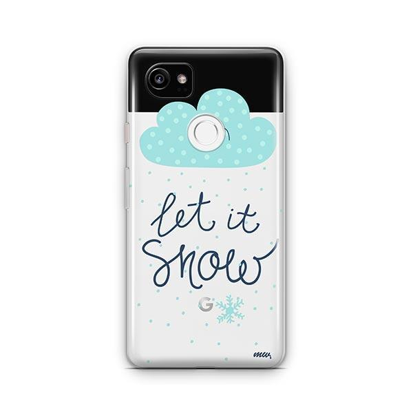 Let It Snow Google Pixel 2 XL Case Clear