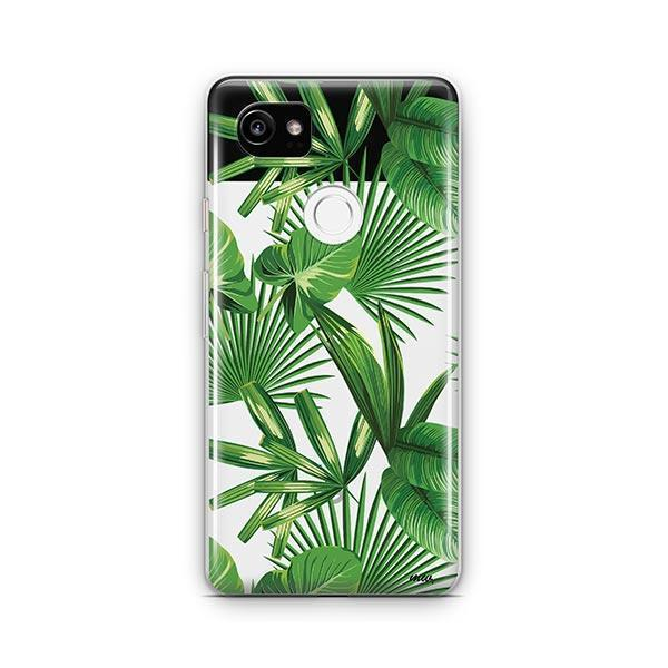 Tropical Palm Leaves Google Pixel 2 XL Case Clear