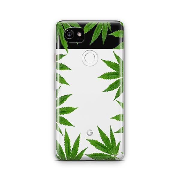Weed Frame Google Pixel 2 XL Case Clear