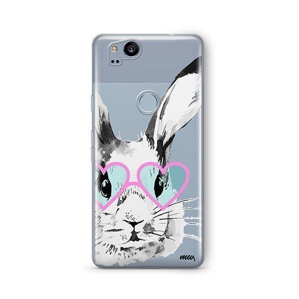Beverly Hills Bunny - Google Pixel 2 Case Clear