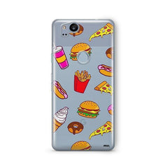 Fast Food Google Pixel 2 Case Clear