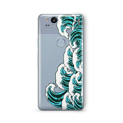 Full Great Wave Kanagawa Google Pixel 2 Case Clear