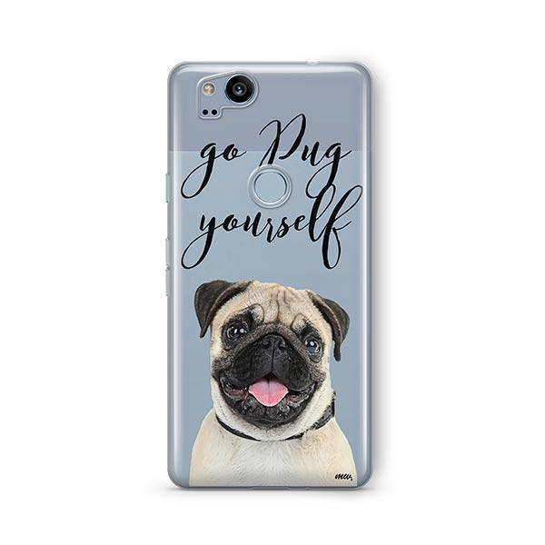 Go Pug Yourself - Google Pixel 2 Clear Case