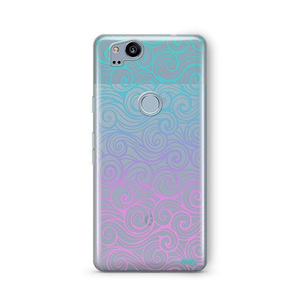 Gradient Wave Google Pixel 2 Case Clear