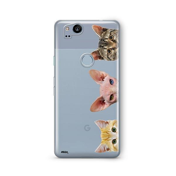 Peeking Cats - Google Pixel 2 Clear Case