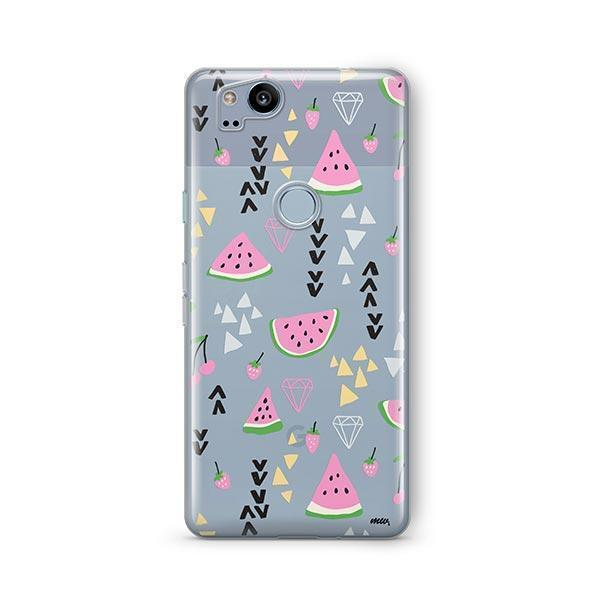Pink Party Google Pixel 2 Case Clear
