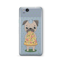 Pizza Pug Google Pixel 2 Case Clear