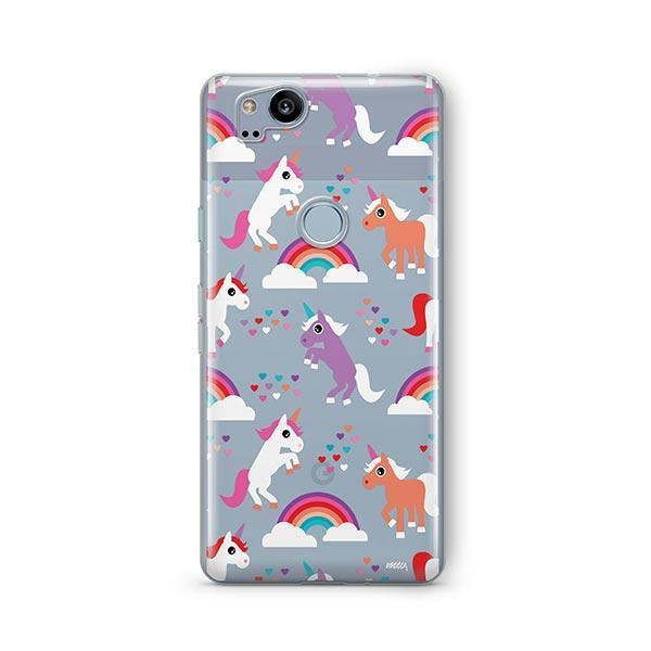 Rainbows and Unicorns Google Pixel 2 Case Clear