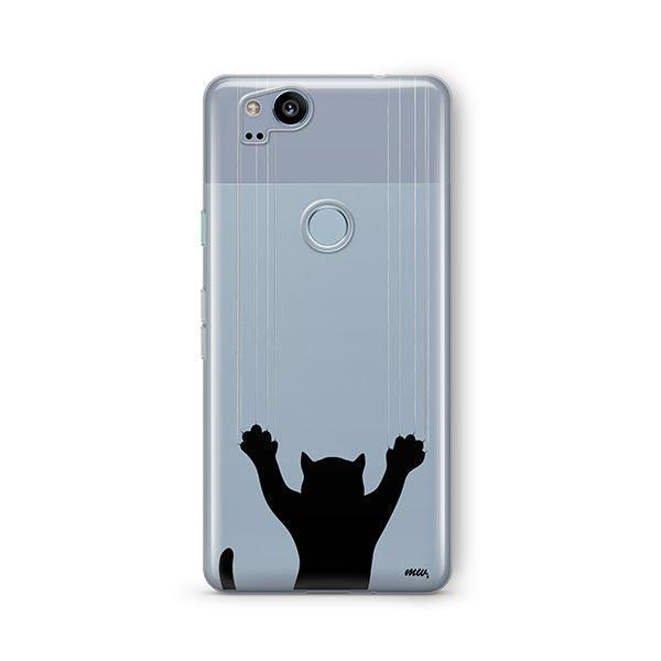 Scratchy Cat - Google Pixel 2 Clear Case