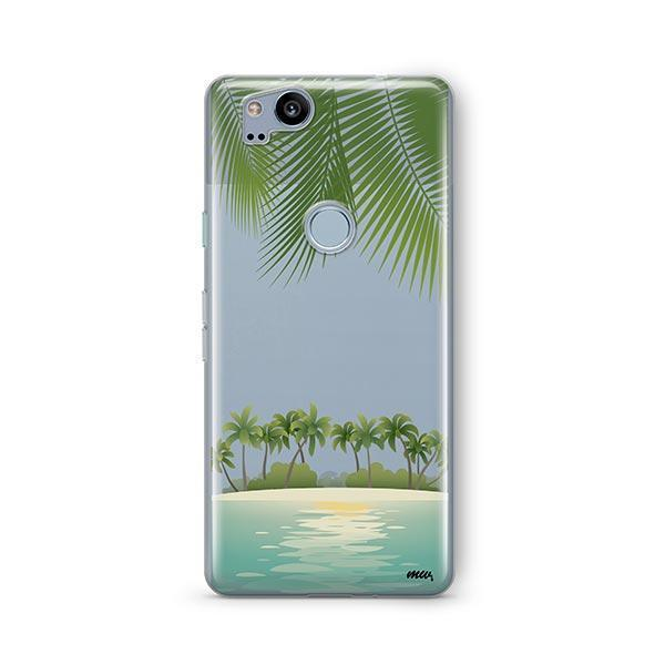Tropical Beach Google Pixel 2 Case Clear