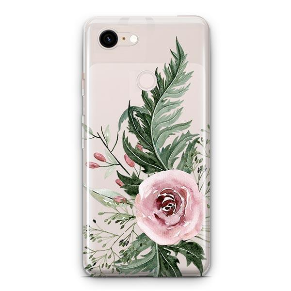Dusty Pink Rose Google Pixel 3 XL Clear Case